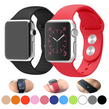 Silicone band for Apple Watch 38mm 42mm Sport Bracelet Rubber Watch strap for Iwatch 5 4 44mm 40mm for Apple Watch 3 2 1
