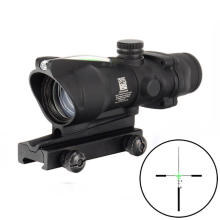SPINA OPTICS Hunting Riflescope ACOG 4X32 scopes Real Fiber Optics Red green Illuminated Tactical Optical Sight scope
