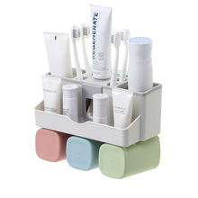 New Product Ideas 2019 Eco Friendly Automatic Toothpaste Squeezer/dispenser Bathroom Wall Mount Toothbrush Holder Storage Rack