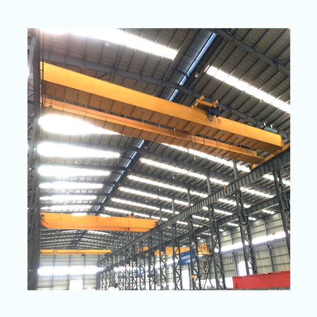 High Performance Industrial European Design Double Girder Overhead Crane With Hoist