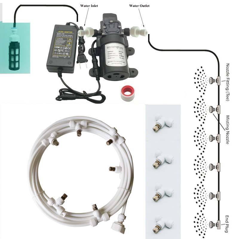 Low Pressure Misting Sprayer with 12V Micro Diaphragm Pump for Garden
