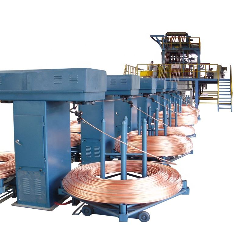 Automatic Copper Rod Continuous Casting Machine Wires Rod Making Machine Rod Continuous Casting Machine 8mm Copper Automatic Copper Machinery Repair Shops Manufacturing Plant