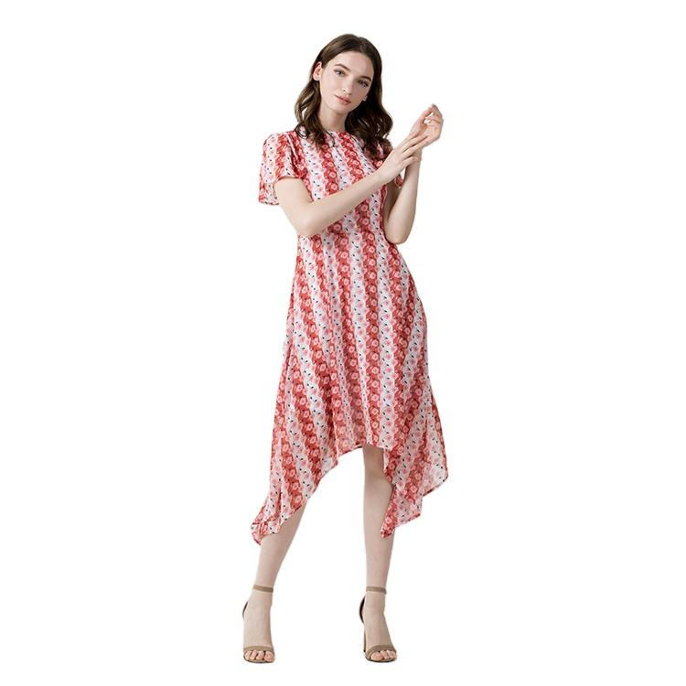 Yindian Oem Apparel Manufacturer Women's Clothing Custom Summer Floral party Midi Women Cotton Casual Dresses