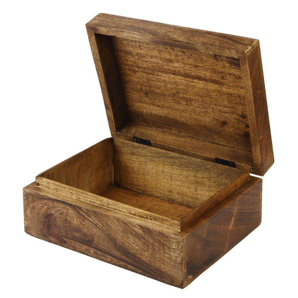 Promotion square antique wooden box for sale
