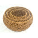 Factory price Household Stackable woven basket Round Plastic Rattan Wicker Storage Basket Sundries Storage Basket set of 3