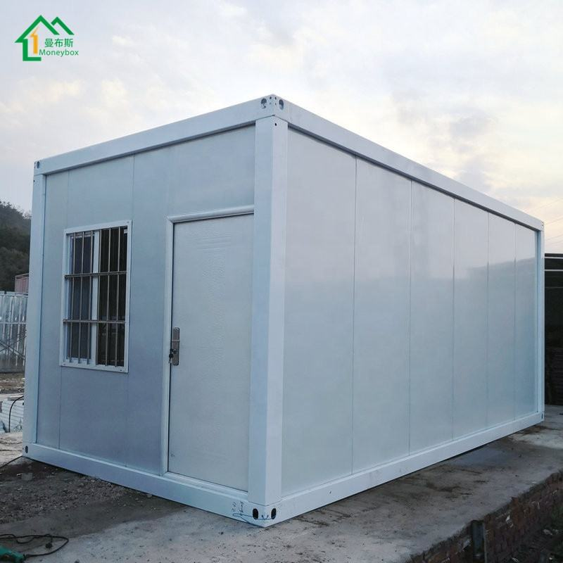 2 Bedroom Prefab Homes Portable Flat Pack Container House 20 Ft Cabin House With Solar Panel Prefab House Container Luxurious