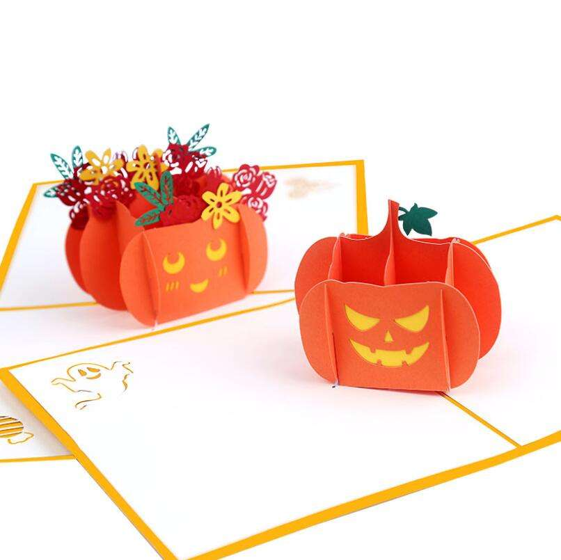 2021 custom Christmas thank you card 3D halloween decoration greeting cards
