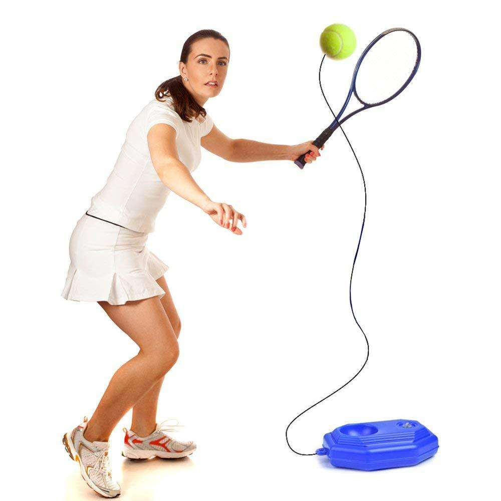 Tennis Training Partner Sparring Device Aids Tool Elastic Rope Ball Practice Self-Duty Rebound Tennis Trainer
