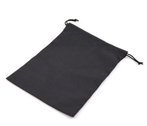 Black Organic Durable Cotton Drawstring Tote Bags New Style Recycled Drawstring Cotton Pouch With Logo