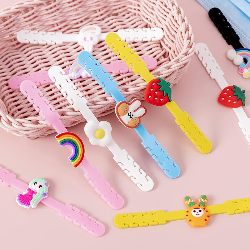 DIY new design Extend Ear Rope Model Protective Ear Long Time Wearing cute Hook Adjustable Buckle for kids