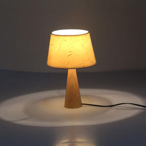 Solid wood table lamp simplicity modern bedroom decoration bedside lamp study originalitywooden table lamp