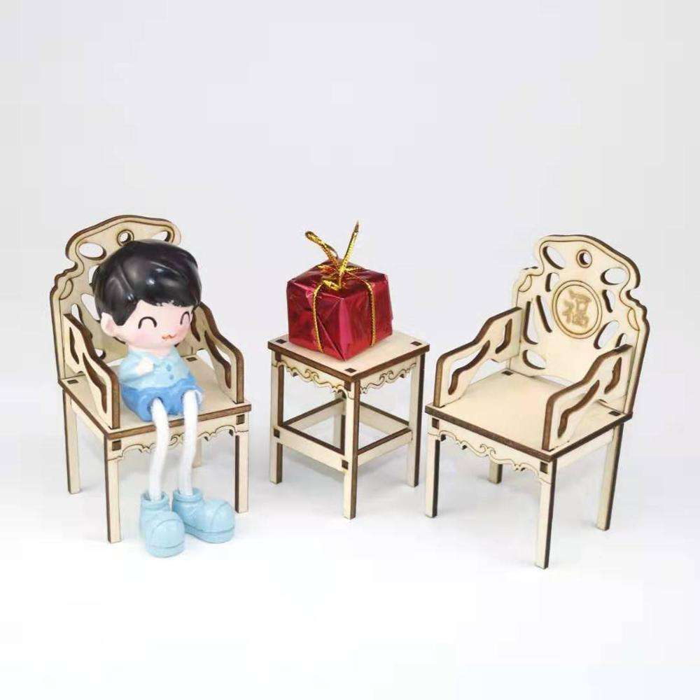 1//6 Scale Dollhouse Barbie Furniture Pink Transparent Chair One Piece SL024