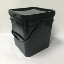 5 Gallon 20L black square bucket plastic pail bucket plastic