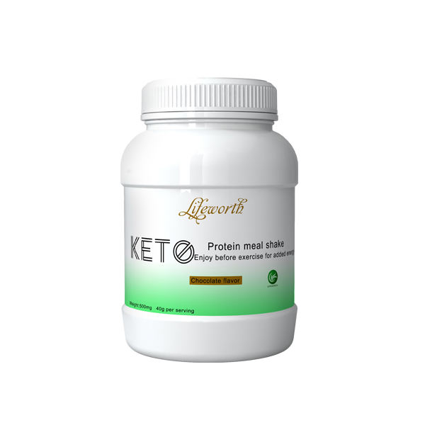 Lifeworth chocolate flavor meal replacement keto shake drinks