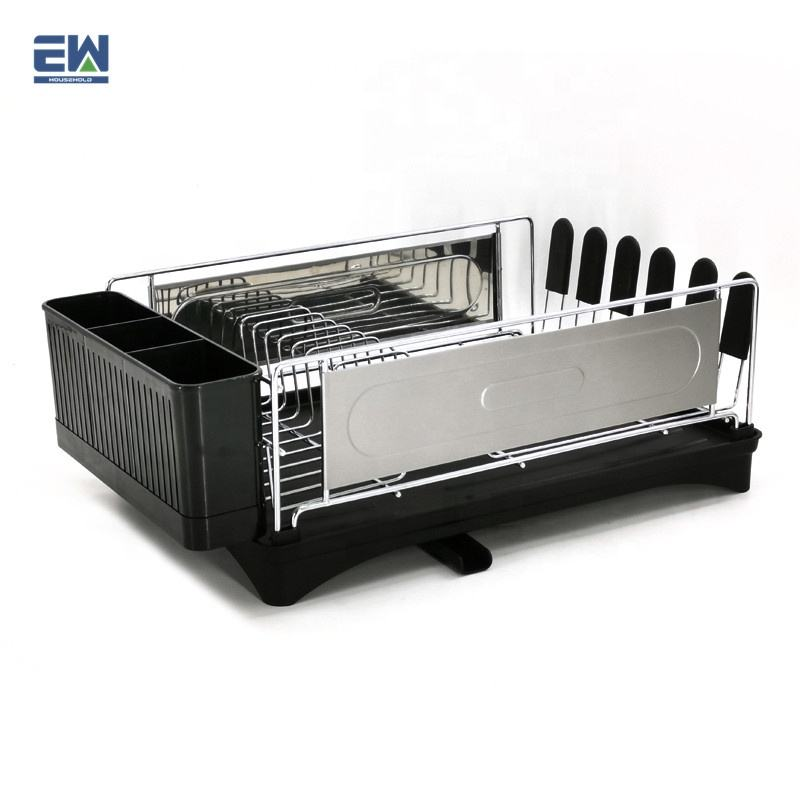EW brand Reliable bowl dry stand supplier 2020 newest design stable iron rack kitchenware plate holder Dish Rack