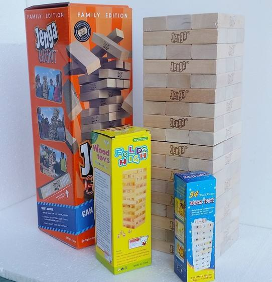 Outdoor 54 Custom Blok Giant Tumble Tower, Grote Custom Game Items