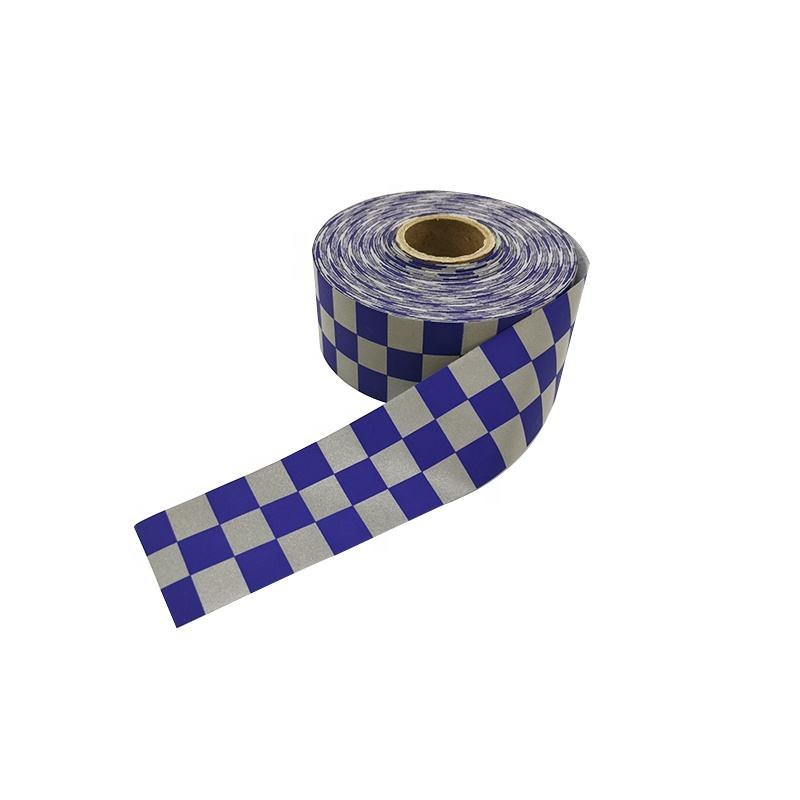 Common Custom Printed Checker Reflective Tape for police uniform