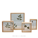 Best selling custom wood double sided glass picture frame square photo frame wholesale