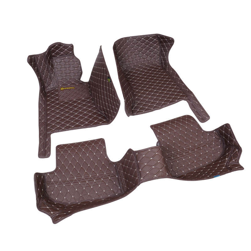 4D5D PVC leather anti slip car floor mats made in China leather car carpets for all auto cars