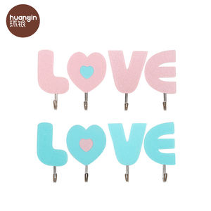 Hot sale originality LOVE tile acrylic stick wall hook