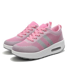 Hot sale knitted upper air cushion women shake shoes