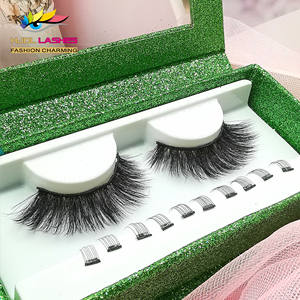 25mm faux mink eyelashes wholesale private label custom eyelash packaging box 10 magnet magnetic lashes magnetic eyelashes