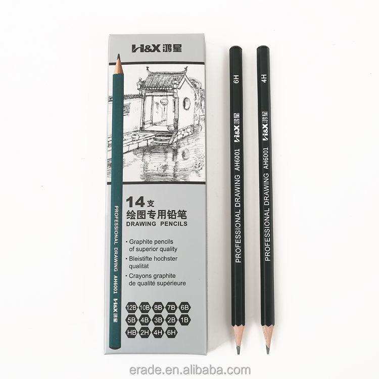 Best Quality 14 teile/satz 12B 10B 8B 7B 6B 5B 4B 3B 2B B HB 2H 4H 6H Graphite Sketching Pencil Professional Sketch Pencil Set