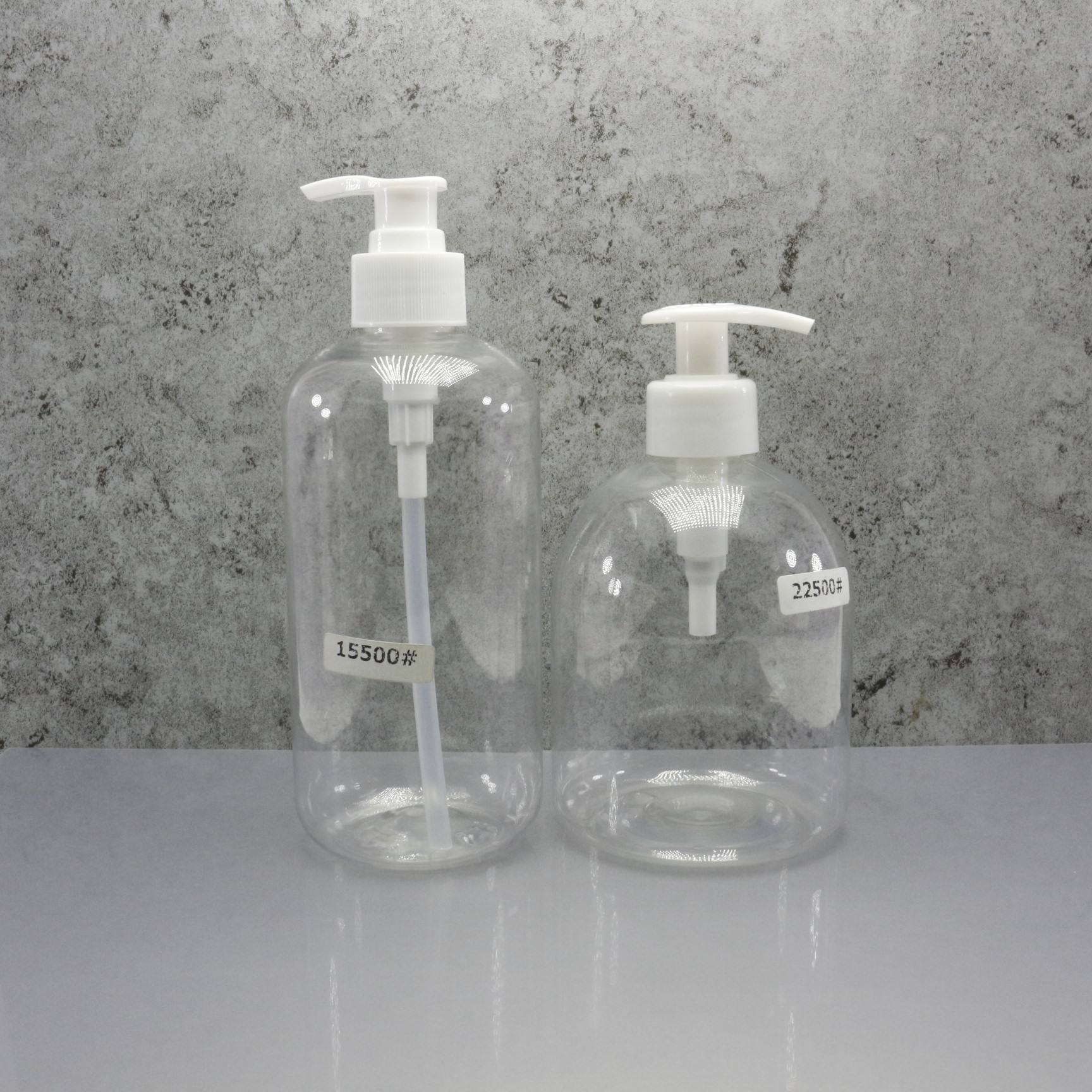 Empty clear hand wash bottle 250ml 500ml pump bottle plastic PB-87S