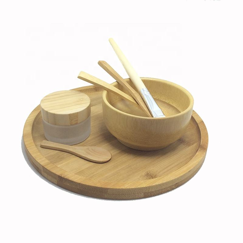 bathroom products 2020 bamboo bowl skin care bamboo facial bowl