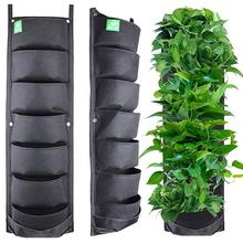 Deeper 4 Pocket 7 Pocket 9 Pocket Waterproof Hanging Vertical Garden Wall Planter Felt Fabric Plant Growing Bag