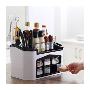 2020 Multi function Household Plastic Kitchen Condiments Storage Spice Organizer