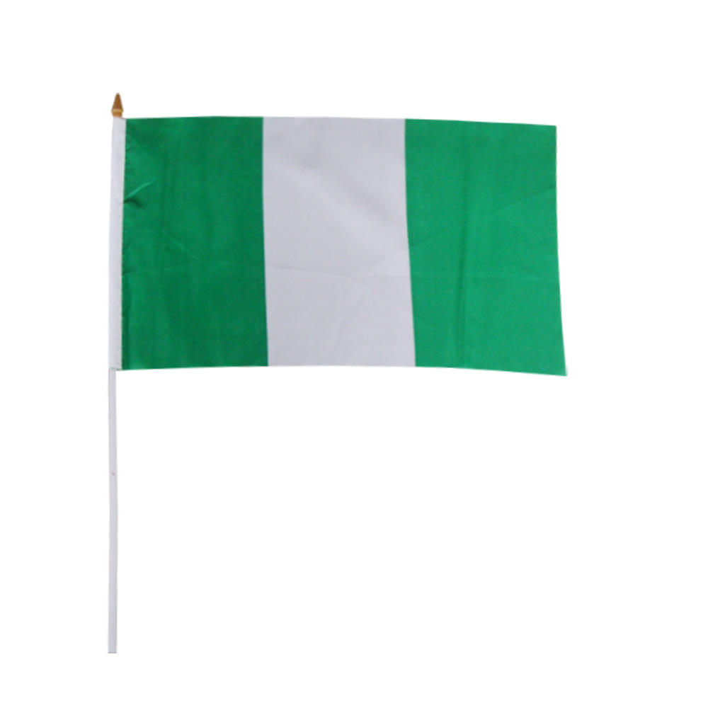 Pas cher Polyester Taille Chaude 20X30Cm Nigérian Main <span class=keywords><strong>Drapeau</strong></span>