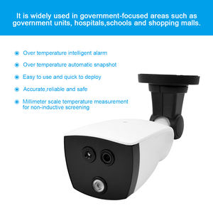 1080P IP Camera AI Human Body Temperature indicator Binocular Camera with Alarm Function Cam for Fever Detection