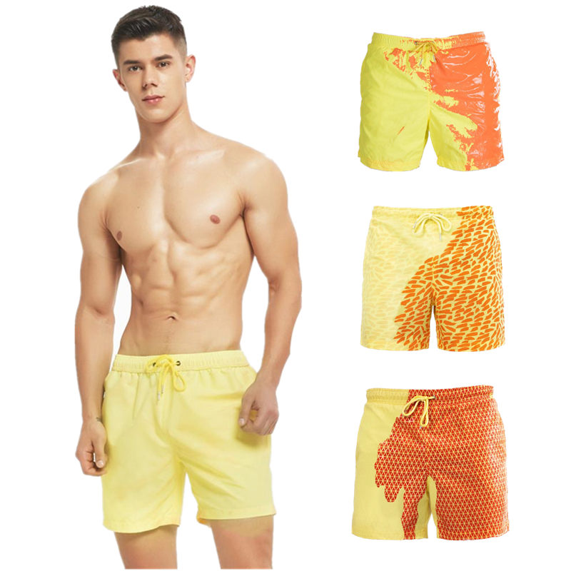 Custom Color changing shorts swimsuit Change Color Beach shorts Men Swimwear