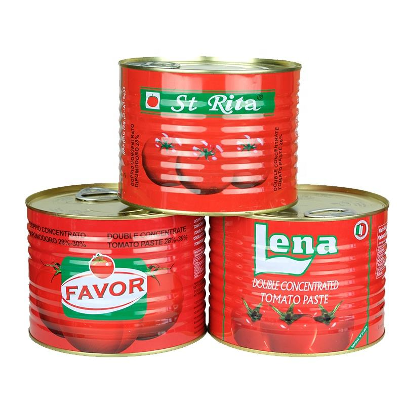 Canned High Fresh Quality Tin Tomato Paste Manufacturer 2200g