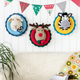 Heybabee 100% Handmade Yarn Animal Head for Baby Room Decor Baby Kids Bedroom Hangings Wall Decoration