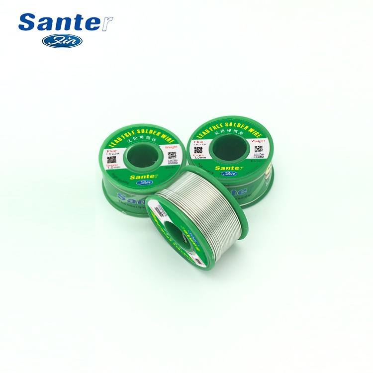 Santer Lead free tin activity solder welding soldering lead wire 0.8mm 200g Sn99.3/Cu0.7 G.W N.W