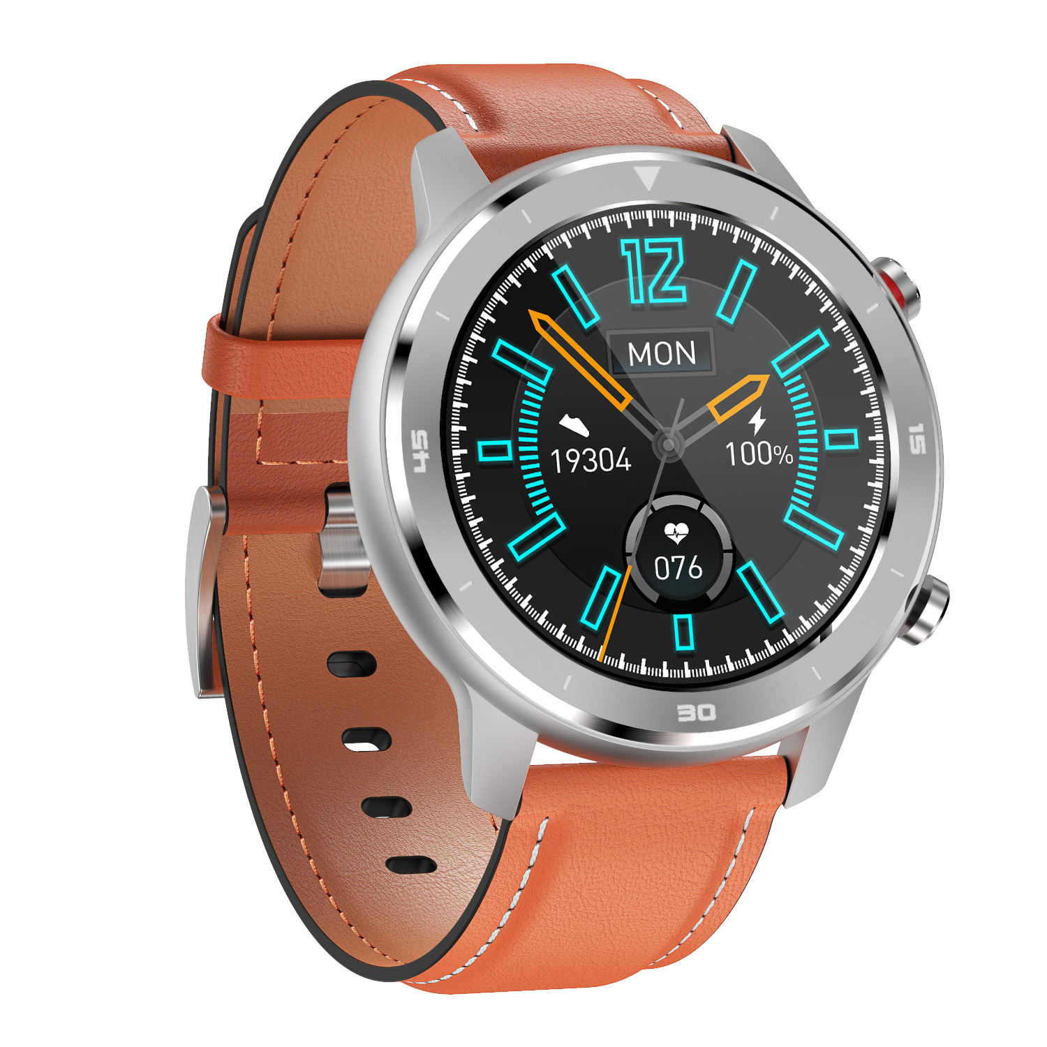 2020 IP67 Waterproof Smartwatch Full Touch Wearfit Heart Rate Monitor Round Fitness Sport Smart Watch DT78 with Multiple Strap