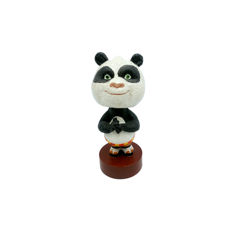 High-quality Polyresin Ornaments Panda With Kung Fu Shaking Head Resin Ornaments Customized Gifts Promotional Items Souvenirs