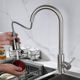 Wholesale 304 Stainless Steel Brush Pull Down Sprayer Sink tap Kitchen Sink Faucet