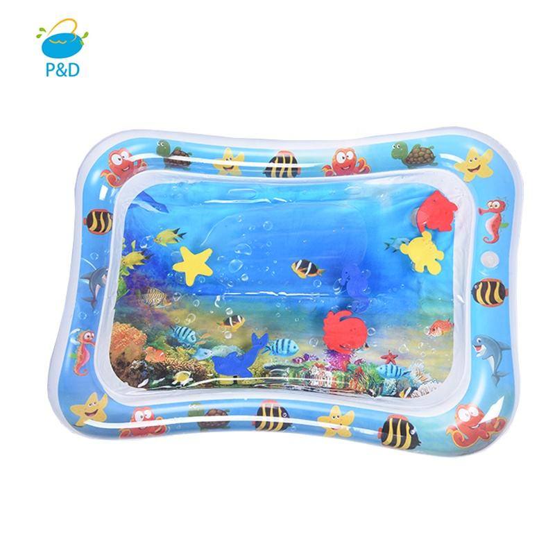 P&D Child Development Water Play Mat Non-Toxic Inflatable Baby Mat Tummy Time Mat for Babies Infants and Toddlers