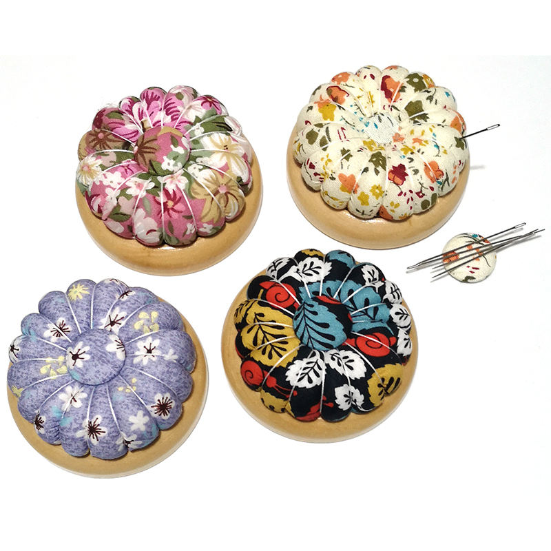 Free Shipping Pumpkin Pin Cushion Wooden Base Needle Sucker Magnet Sewing Accessory Belt Magnetic E499