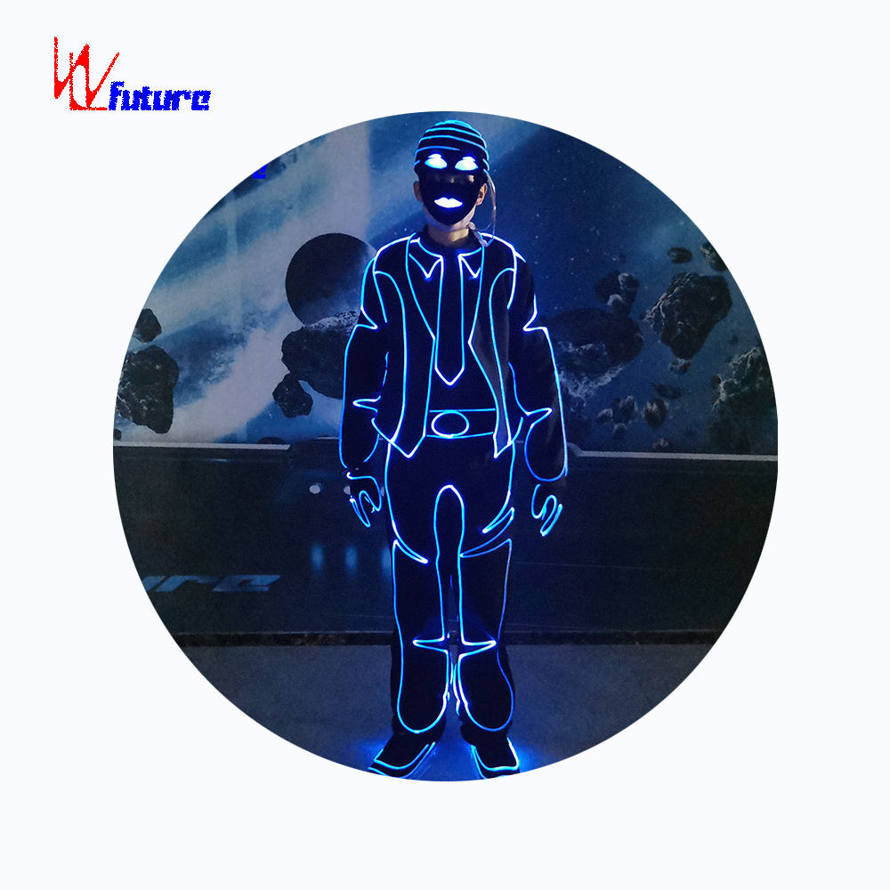 New Product! WL-0264 Programmable Fiber Optic light Tron Dance Suits boys group dance costume mens performance wear Rave clothes