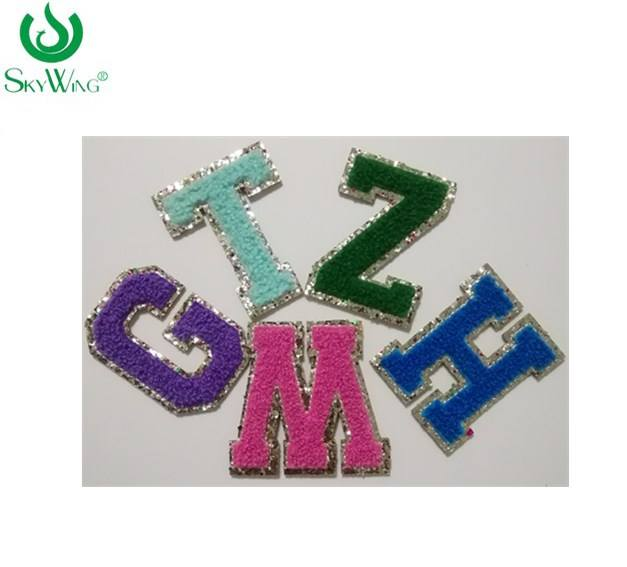 Beautiful Chenille embroidered letters patches