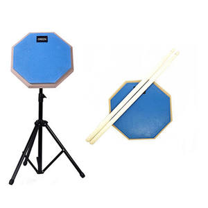 Wholesale Rubber Wooden one piece drum pad music instrument With Adjustable drum pad stand drum pad electronic portable