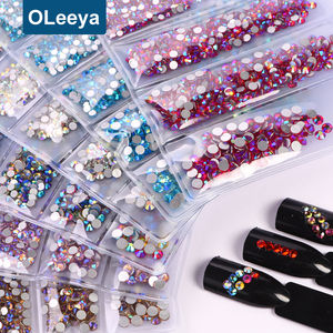 Wholesale Price Glass Flat Back Non Hotfix Rhinestone Craft Art Crystal Rhinestones Nails