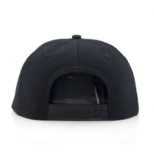 6 panel snapback blank gorras Black high quality custom embroidery flat brim snapback cap snapback hip hop cap hat