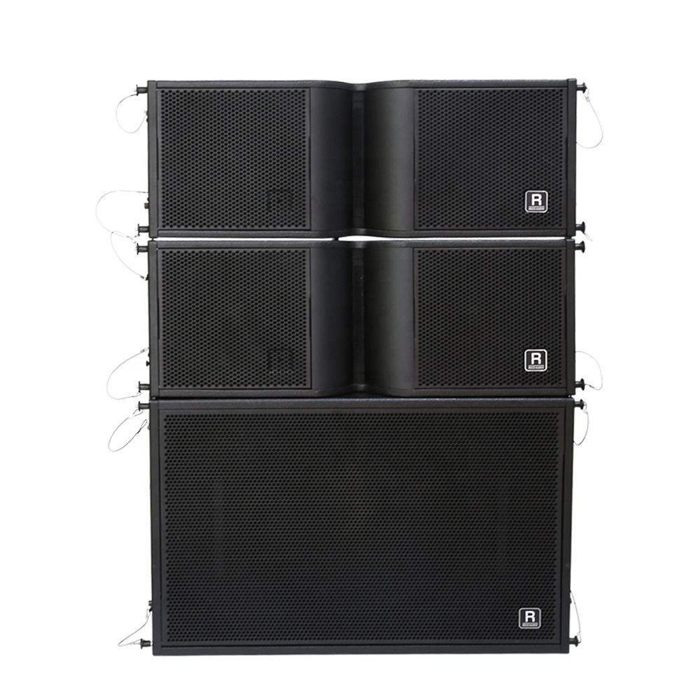 Luar Ruangan Sound Sistem Dual 8 Inch <span class=keywords><strong>Pasif</strong></span> Profesional Line Array Audio Speaker