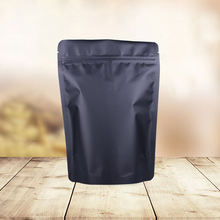 Matte Black Stand Up Aluminum Foil Zipper Zip Lock Bag Package Pouch Packaging Doypack Mylar Storage Ziplock Food Bags