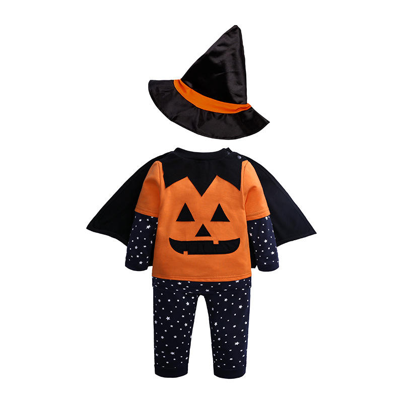 2019 autumn trousers hat cloak four pieces baby clothing sets halloween romper baby baby rompers long sleeve